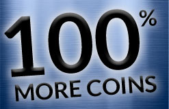 This is the hottest Sunday on the web: Today 100 percent extra coins!